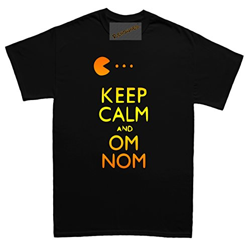 Women's Keep Calm and Om Nom T-shirt. S to 2XL