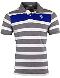 Abercrombie Herren Striped Muscle Fit Polo Poloshirt Tee