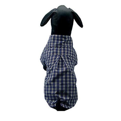 AMURAO Sommer-Haustier-Hundehemd-Baumwollleinenwelpenkleidung-Plaid-Haustier-Kleidungs-Overall für kleine große - Ziel Der Polizei Kostüm