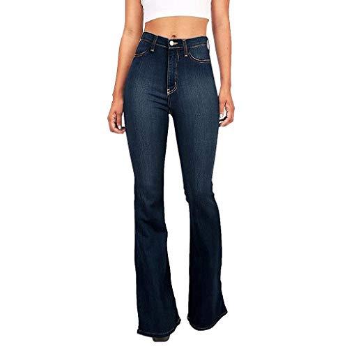 Tomatoa Jeans Hosen für Damen Röhrenjeans Skinny Hosen Denim für Frauen Stretch Hose Modern Skinny Jeanshosen Wide Leg Jeans High Waist Slim Leggings S - 3XL -