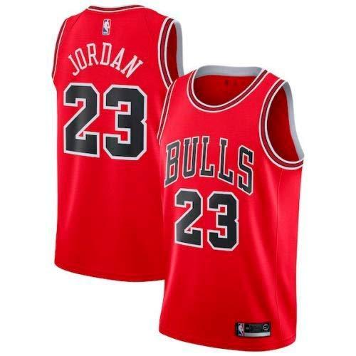 A-lee Trade Men's Jersey Bulls Vintage NBA Champion Michael Jordan Jersey Chicago Bulls #23 Mesh Basketbal (XL, Rot) - Jordan Männer Schuhe