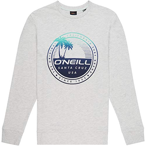 O'Neill Herren LM Palm Island Crew Sweatshirt, Grau (White Melee), M (Oneill-pullover)