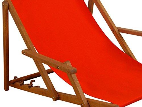 Sedia A Sdraio In Legno : Sedia a sdraio da giardino sdraio cuscino rosso tavolo sedia a
