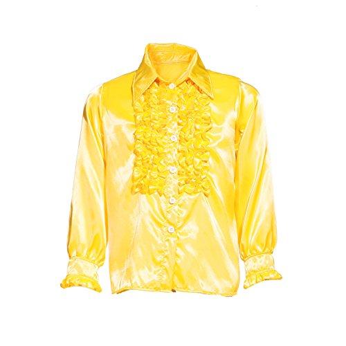 70er 80er 1970s 1980s Disco Rueschenhemd Kostuem Glanz Schlager Hemd Party Retro Herrenhemd Herren Kostuem