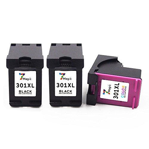 3-Pack (2x Schwarz, 1x Farbe) Remanufactured Druckerpatronen Ersatz für HP 301 XL (CH563E) Multipack Tintenpatronen Kompatibel mit HP Deskjet 1000 1010 1015 1050 3510 3511 3512 3516 Envy Office Jet 2620 2622 4630 4632 4634 4635 drucker (Verpackung kann variieren)