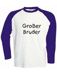 Kinder Baseball T-Shirt langarm Großer Bruder / Größe 92 - 162