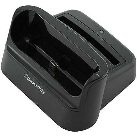 Docking Station USB per la ricarica di batteria + Nero/Nero 1202 decriptare per Samsung Galaxy S4 i9500/i9505