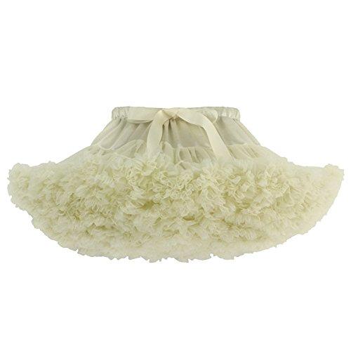 SaiDeng 18 Retro Jupon Swing Vintage Mini Petticoat Fantaisie Net Jupe Beige