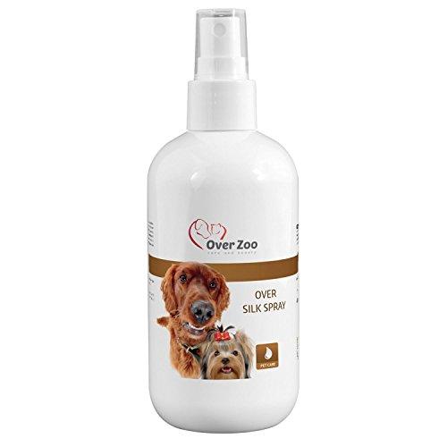 Over-Zoo Pflegespray für Hundefell (Silk Spray) - Hoch wirksames Fellpflege Spray für ein einfacheres Ausbürsten und Kämmen des Fells - 250 ml