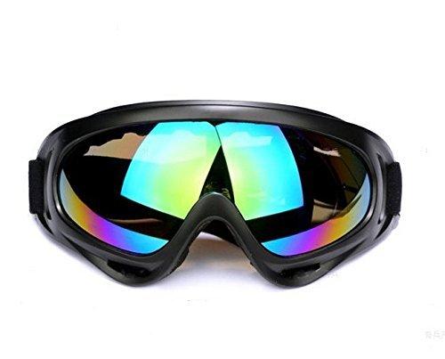 Bundle Power Sportbrillen Motorrad Goggle Motocross Wind Staubschutz Fliegerbrille Snowboardbrille Schneebrille Skibrille Wintersport Brille - Bunte