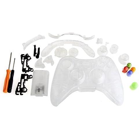 Clear Full Housing Shell Case Cover for Xbox 360 Wireless Controller [Importación Inglesa]
