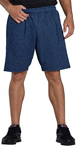 KomPrexx Sporthose Herren Kurz mit Taschen - Schnell Trocknend - Fitness Sport Shorts mit Kordelzug Kurze Trainingshose (2D-DarkBlue,2XL)