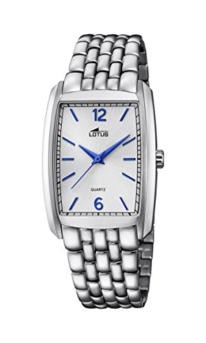 Lotus Unisex Quartz Watch with Silver Dial Analogue Display and Silver Stainless Steel Bracelet 18353/2