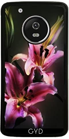 Coque Silicone pour Moto G5 Plus - Rose Lis D'astronome by Gatterwe