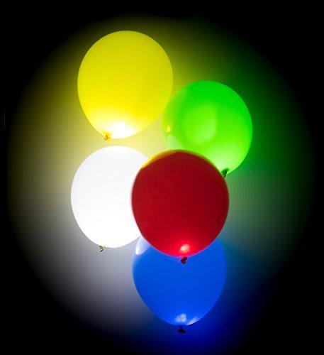 kende Luftballons - 15 Stück - Leuchtende Ballons - Bunt - Party, Geburtstag, Hochzeit, Festival Inklusive Licht - Helium Ballons (Helium-ballone Mit Led-lichtern)