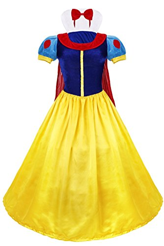Traumhaftes Damen Kostüm Schneewittchen Snow White , Samtkleid mit Tüll und Reifrock - 87% Polyester, 11% Polyamid, 2% Polyester