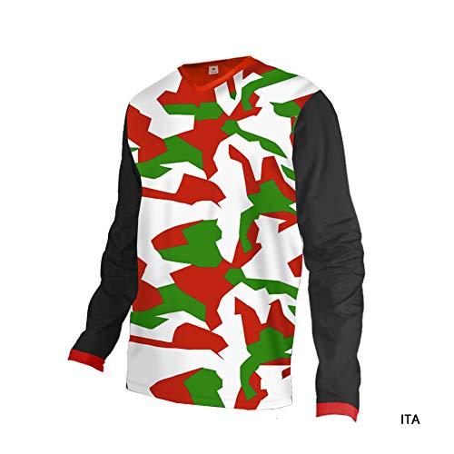 Uglyfrog 2019 MTB Downhill Jersey Schutzkleidung Jacken Herren Kurzarm/Langarm Rennrad Radtrikot Fitness T-Shirt Freizeit Männer Laufshirt Printed und Klassisch Top Funktionswäsche DEHerDownJK01 (Fox Active Jacke)