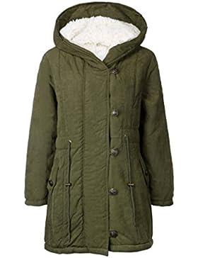 Hey! Longra Mujer Sudaderas con capucha con Horn botones Abrigo Chaqueta Hoodie Pullover Sweater Suéter Suelta...