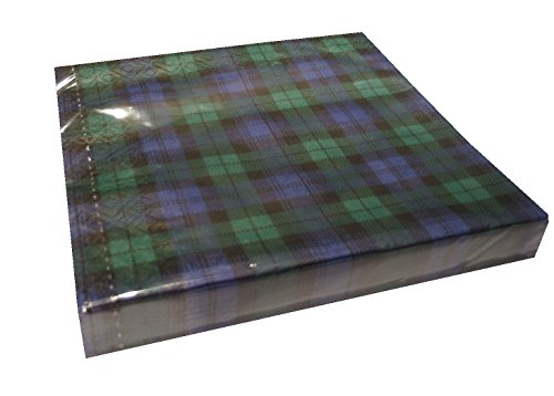 Black Watch tartan paper serviettes/napkins by Made in Germany -