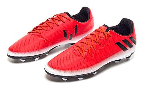adidas Messi 16.3 Fg J, Chaussures de Football Entrainement garçon rouge/noir/blanc