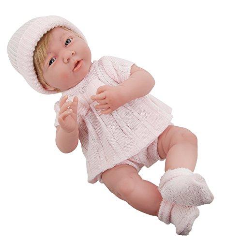 JC TOYS Einteiler, für Neugeborene, 38,1 cm, Rosa, Punktmuster