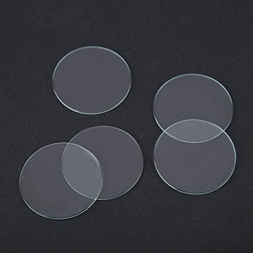 Uhr Objektiv, 5 STÜCKE Runde 37/38/39 MM Flache Uhr Kristalllinse Glas Ersatzteile Werkzeug(03)