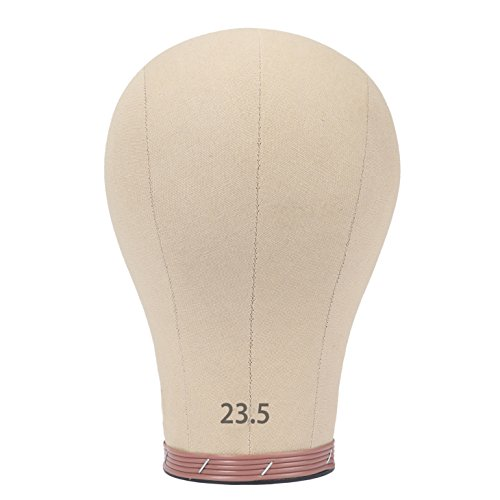 Multi Size-Short Cork Canvas Block Head For Wig Making Drying Styling Coloring 23.5 Inch