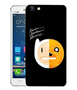 Snoogg Random Adventure Memories Designer Protective Back Case Cover For VIVO V1 MAX