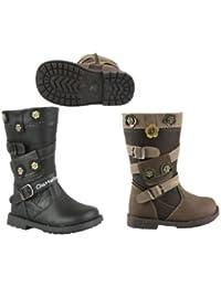 Mid-Funda para niña con el cinturón pantorrilla Plato de botas