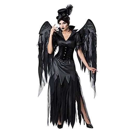 LPP Frauen Halloween Kostüm, Sexy Dark Angel Kostüm Mit Flügeln Spiel Uniform Geeignet Für Abschlussball, Party, - Herren Dark Angel Kostüm