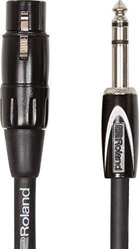 Roland RCC-5-TRXF 1.5m 6.35mm TRS XLR Negro cable de audio - Cables de audio (6.35mm TRS, Macho, XLR, Hembra, 1,5 m, Negro)