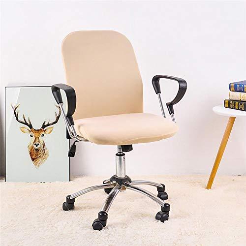Ventdouce - coprisedia per sedia da ufficio e computer, elasticizzato, universale, 4545 cm beige