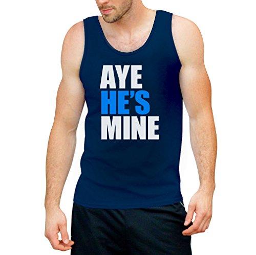 Aye He's Mine Tank Top - Pärchen Paar Freundin Freund Motiv Blau