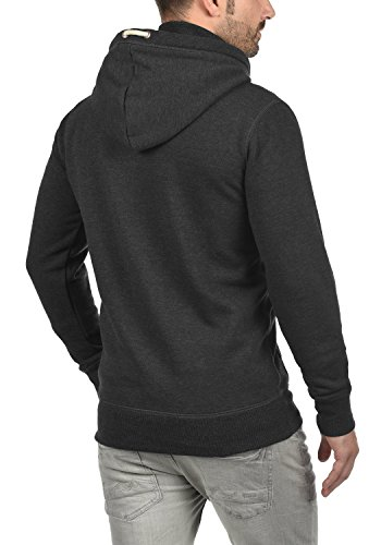 SOLID Trip-Zip Herren Sweatjacke Kapuzen-Jacke Zip-Hoodie mit optionalem Teddy-Futter aus hochwertiger Baumwollmischung Dark Grey Melange (8288)