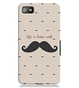 Dress My Gadget Life is better with Moustache Case for Blackberry Z10