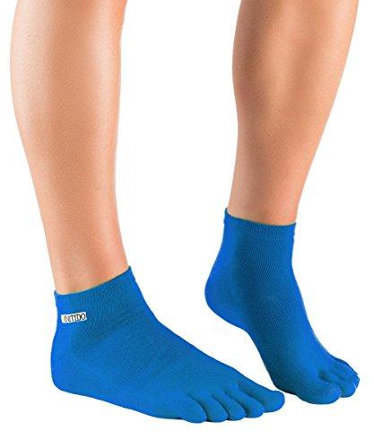 Herren Kurze Wirkung (Knitido Track & Trail Ultralite Fresh Seasons   dünne und kurze Zehensocken für Sport und Freizeit, geeignet für Zehenschuhe, Größe:35-38, Farbe:Blau)