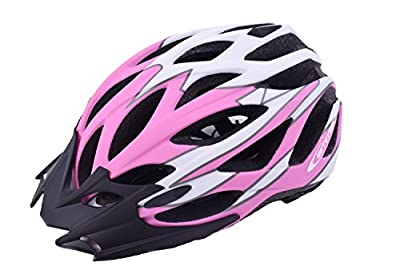 Ammaco Womens Girls Mountain Bike Road Bike Lightweight Cycle Helmet Visor Pink from Ammaco