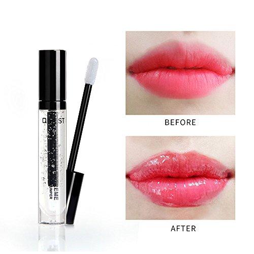 Lip Gloss Transparent, Leegoal Brillant à Lèvres Clair Hydratant Brillant à Lèvres Brillant à Lèvres Longue Durée Brillant, 1PC Liquide Brillant à Lèvres