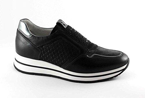 Nero Giardini 17231 Negro Zapatillas De Deporte Para Mujer Slip On Elastic Black