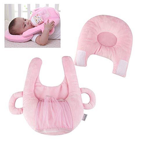 aby-Fütterungskissen, selbstfütternde Unterstützung, multifunktionales Baby Stillkissen und Lagerungsgerät, Anti-Roll-Schutz-Flachschaum-Kissen - Mommy Good Helper Rose ()