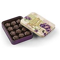 Chocolate Amatller Flors - Bombones chocolate 70% cacao y Naranja en caja metal - 4 cajas de 72 gr. (Total 288 gr.)