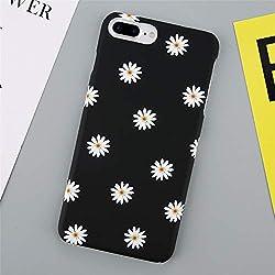 DREAMBAB Fundas Encantadora Caja del Teléfono De La Flor para iPhone 7 Plus XS MAX XR Daisy Floral Contraportada para iPhone X 8 7 6 6 S Plus Funda Trasera Dura para iPhone XS MAX Sj6196