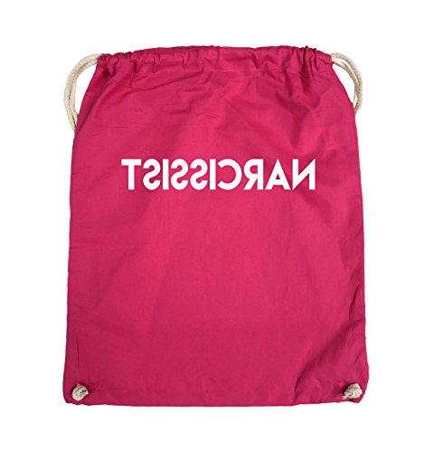 Comedy Bags - NARCISSIST - GESPIEGELT - Turnbeutel - 37x46cm - Farbe: Schwarz / Pink Pink / Weiss