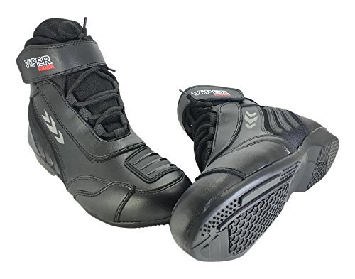 ViPER Rider  Motorcycle 455 Ankle Laceup Boot, Black, 47/13