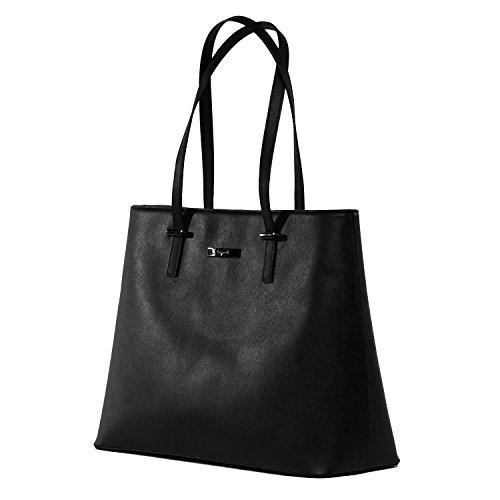 tragwert. Borsa a mano da donna Shopping Bag LENA nera - Borsa tote a spalla Shopper Borsa a tracolla nero