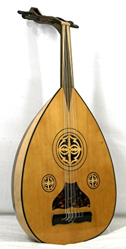 '' musikalia Laute Árabes aoud, Suelo en 15láminas de arce y nogal mansonia, rosetones de madera traforato. de Luthier