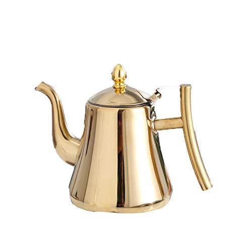 Bouilloire induction L'acier inoxydable restaurant de théière a bouilli le fond plat d'hôtel d'hôtel de thé avec la maison de thé de bouilloire épaississant de bouilloire de filtre WHLONG
