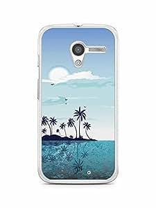 YuBingo Beach and Sky Designer Mobile Case Back Cover for Motorola X