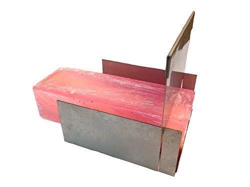 Seifenschneider für Blockseife aus Metall, 17,5 cm lang, 14 cm breit, 10,5 cm hoch