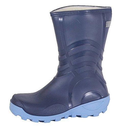 kinder-winter-regenstiefel-gr-28-fell-gummistiefel-stiefel-warm-gefuttert-blau